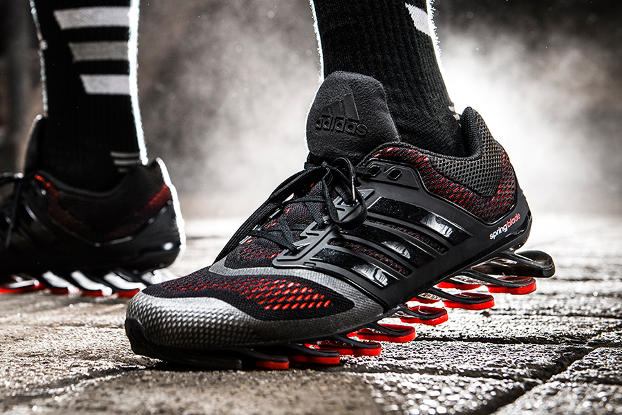 1740f9f4f563 Explore the brief family tree of adidas Springblade sneakers shown here