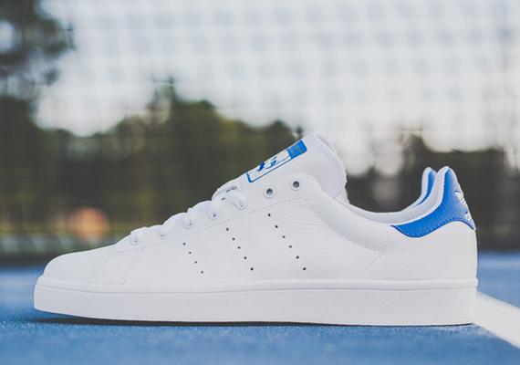 huge selection of 94b73 5636d adidas Stan Smith Vulc - White - Royal - SneakerNews.com