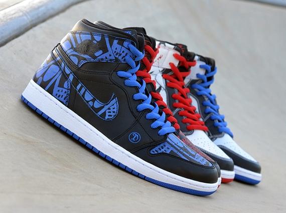0aaa22465a6 Lance Mountain x Nike SB Air Jordan 1 by Dank Customs