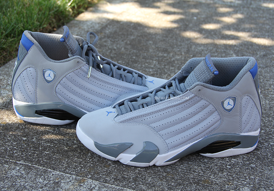 aebd949cb631 Air Jordan 14 - Grey - Sport Blue - White - SneakerNews.com
