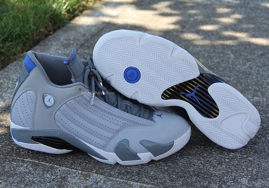 check out c82ef c88e2 Air Jordan 14 - Grey - Sport Blue - White - SneakerNews.com