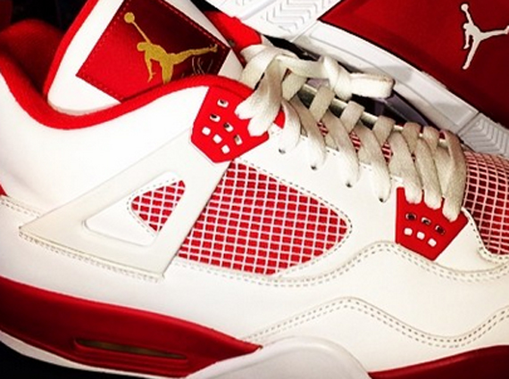 ... italy another look at carmelo anthonys air jordan 4 white red pe  sneakernews 07cde e6585 4f2df4a4b