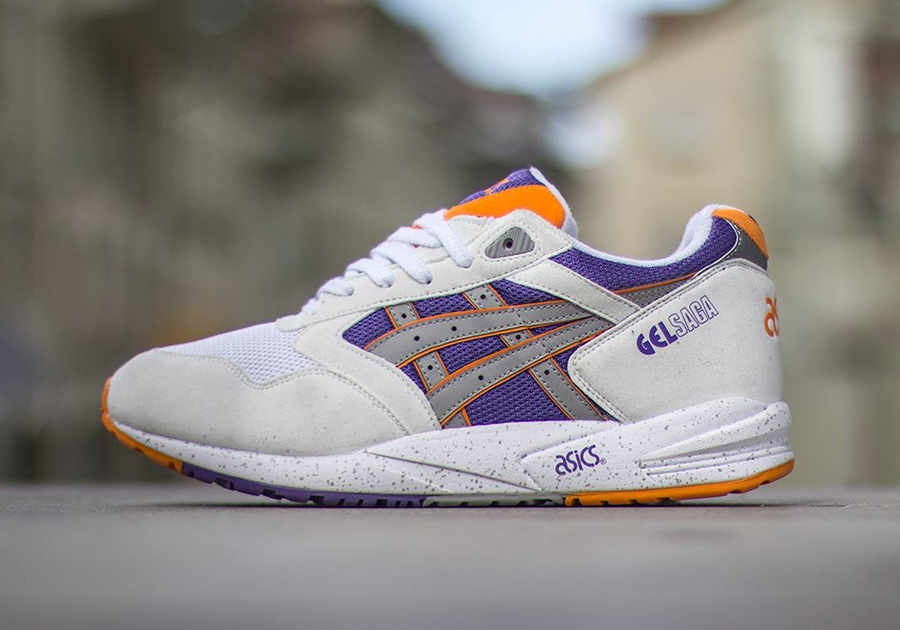 Asics Gel Saga White Orange Purple