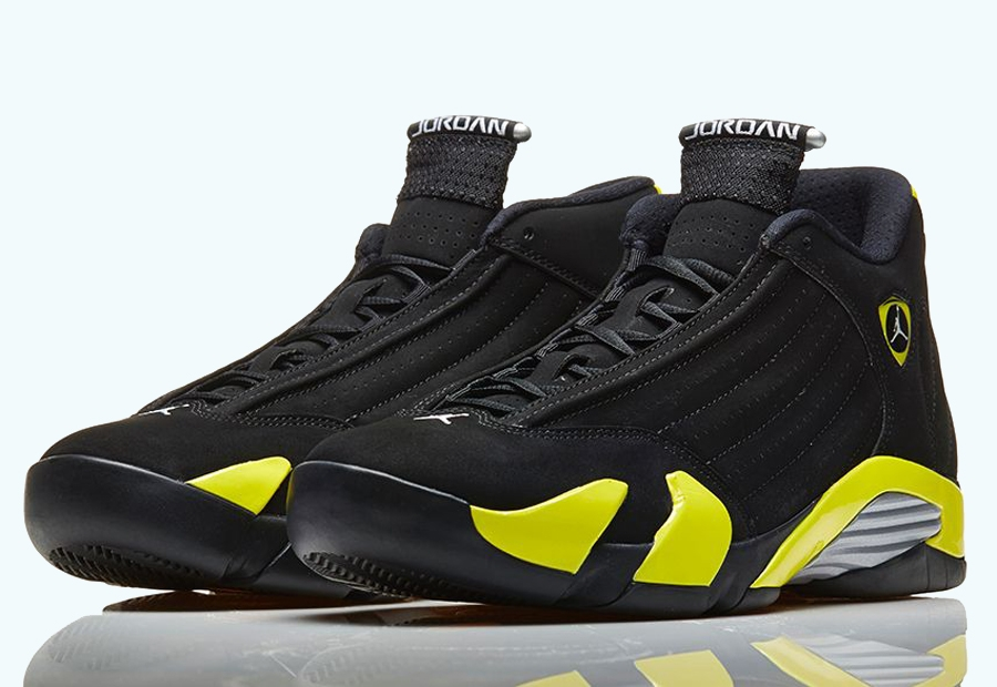 Womens Air Jordan Shoes 14 Black Yellow 7WZY