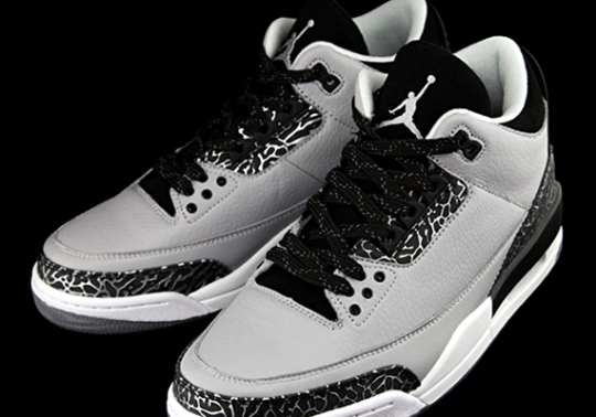 "The Air Jordan 3 ""Wolf Grey"" With Clear Soles"