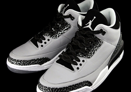 """fc341ad27b5 The Air Jordan 3 """"Wolf Grey"""" With Clear Soles"""