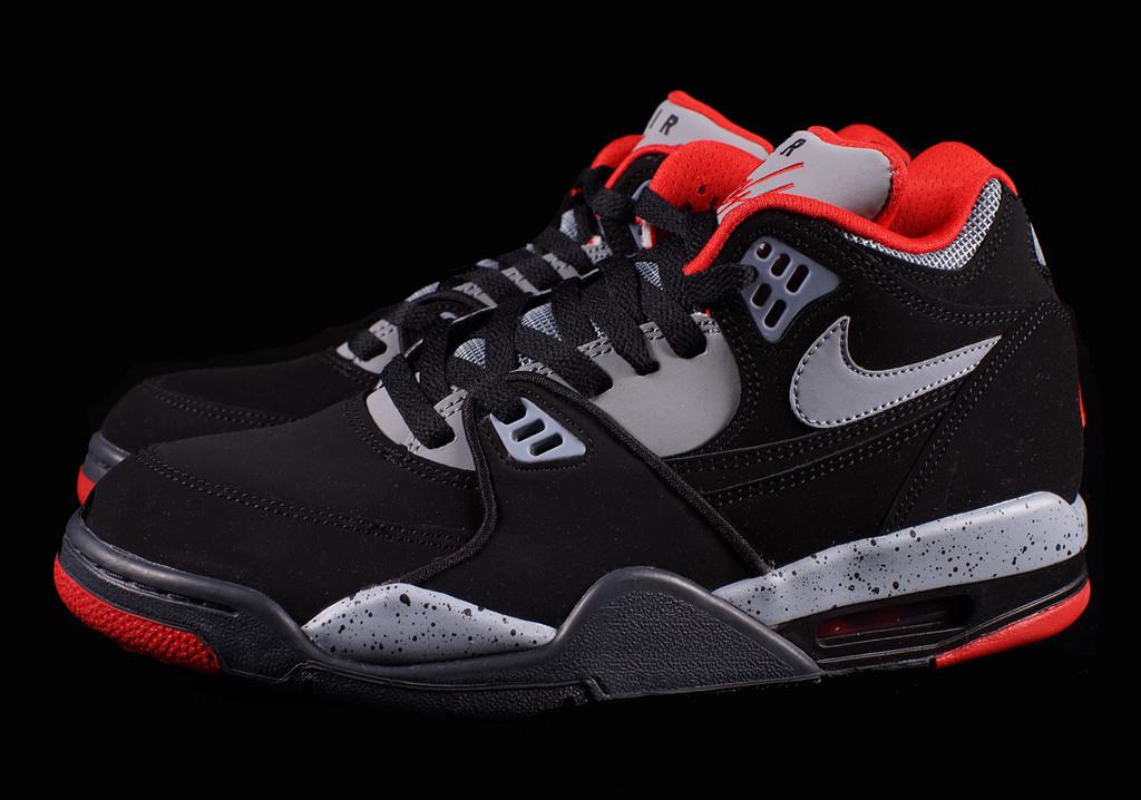 Nike Air Flight  89 - Black - Dark Magnet Grey - University Red -  SneakerNews.com 7a1db1a0b