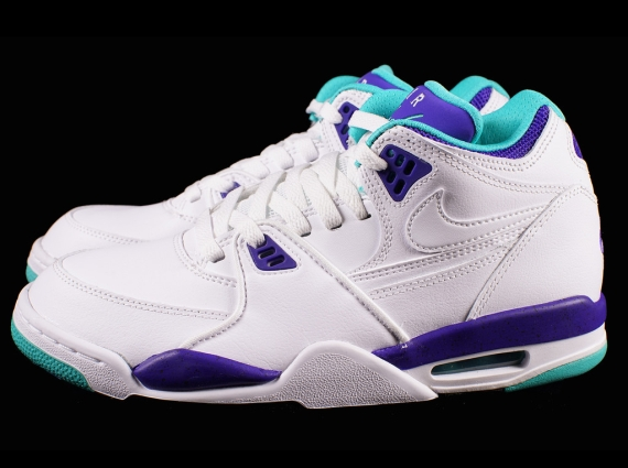 finest selection 795c6 80b40 Nike Air Flight '89 - White - Dark Concord - Hyper Jade - SneakerNews.com