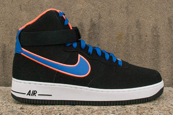 nike air force 1 black blue orange