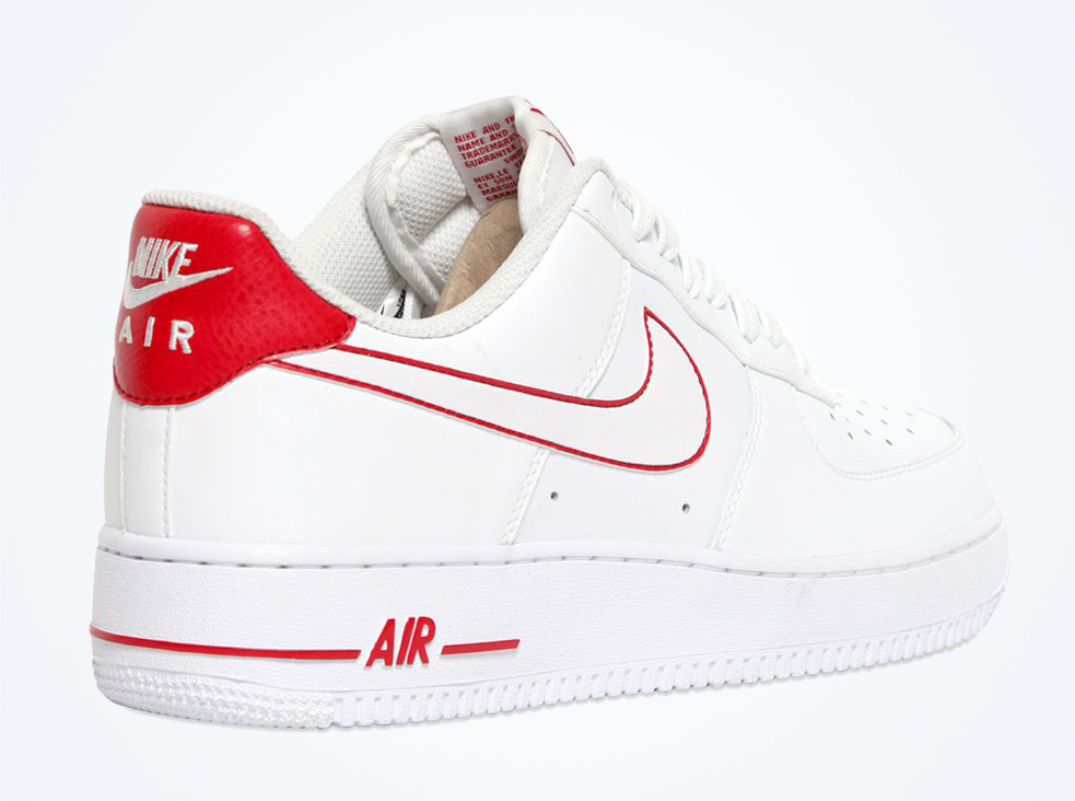 nike air force 1 red swoosh