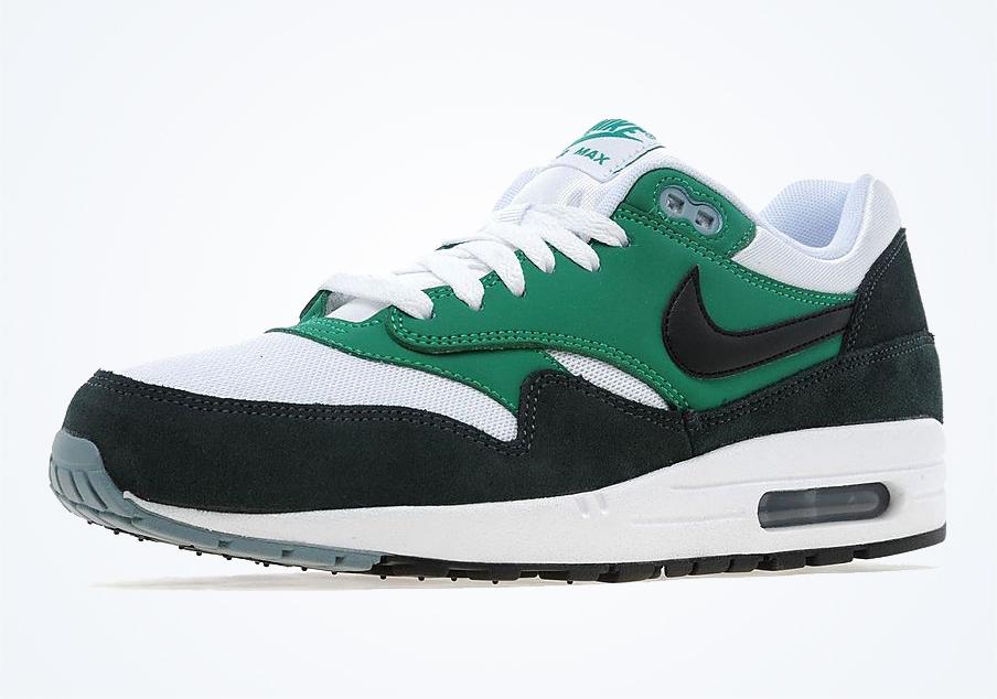 best sneakers d2b30 1eee8 Nike Air Max 1 Essential - White - Black - Lucid Green - SneakerNews.com