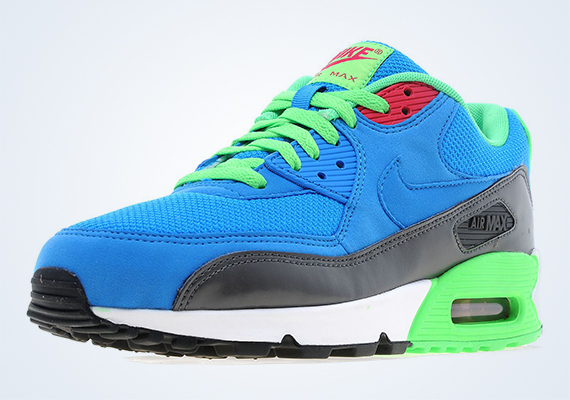 buy online c8c5a 7abcd Nike Air Max 90 - Photo Blue - Medium Ash - Poison Green - SneakerNews.com