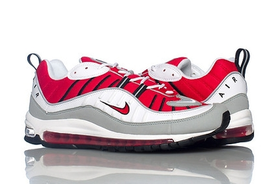 nike air max 98 red and white