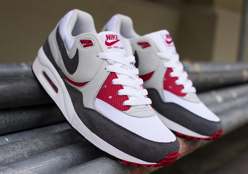 on sale 03ef9 d099b Nike Air Max Light Essential - White - Medium Ash - Gym Red -  SneakerNews.com
