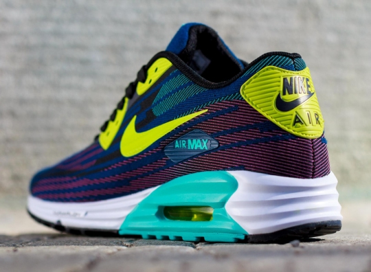 Nike Air Max Lunar90 Jacquard – Black – Dusty Cactus – Brave Blue