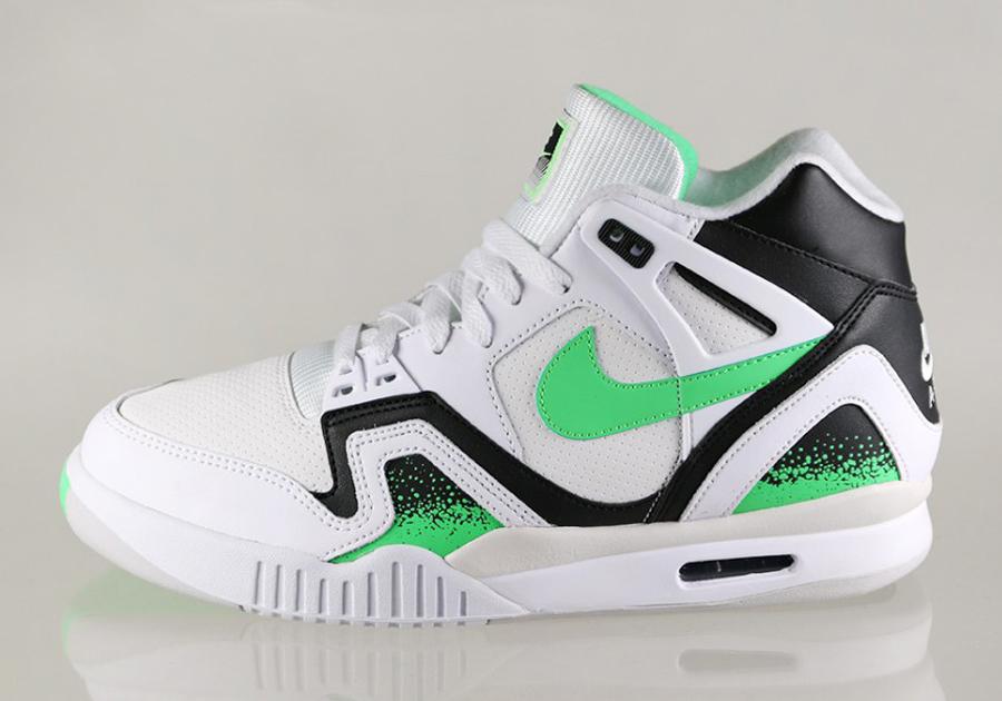 f5fd6cc1f042 Nike Air Tech Challenge II – White – Poison Green – Black – Light Ash Grey
