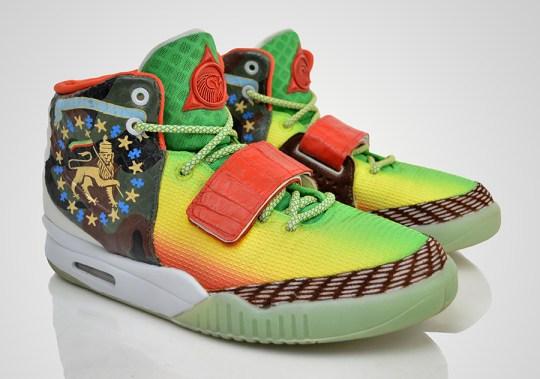 """Nike Air Yeezy 2 """"Marleezy"""" by Revive Customs"""