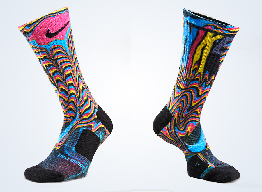 """The meteoric rise in popularity of socks can be credited to a number of  events, but what truly sent the """"sock game"""" to new heights was the release  of the ... - Nike Unveils The Elite Digital Ink Print Sock - SneakerNews.com"""