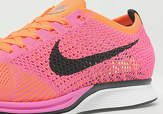 b72c27ccc822 Nike Flyknit Racer - Pink - Orange - SneakerNews.com