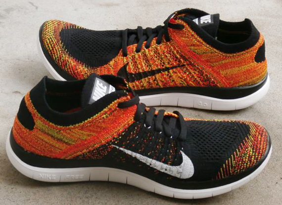 Nike Free 4.0 Flyknit - Black - Bright Crimson - SneakerNews.com