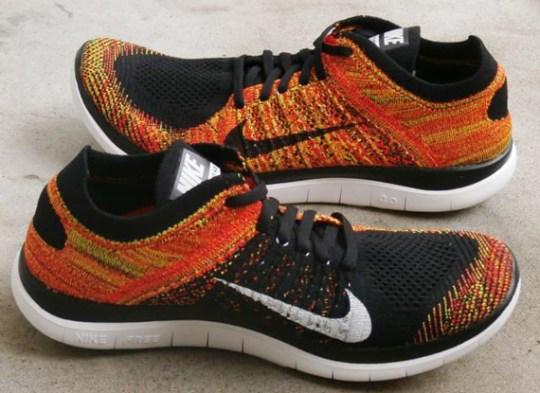 Nike Free 4.0 Flyknit – Black – Bright Crimson