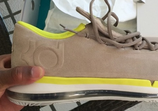 fragment design x Nike KD 6 Elite – Grey – Volt