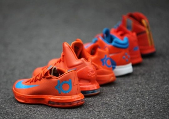 "Six DIfferent Nike KD ""Creamsicle"" Colorways"
