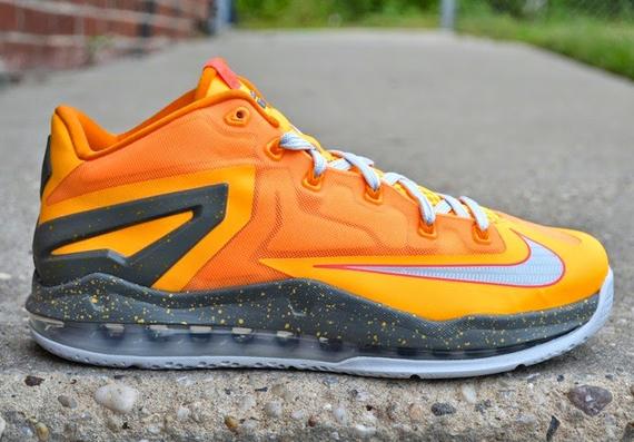lebron 11 lows orange and grey