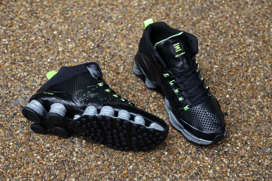 check out 0a2f8 232e3 Nike Shox TLX Mid SP - Black - Volt - SneakerNews.com