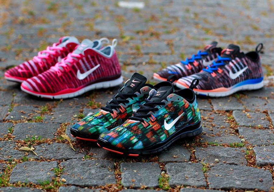 Nike Free 5.0 Tr Passe Fire Print Større Størrelser uNUya
