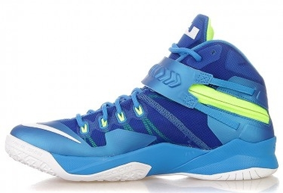 low priced e2aeb 68836 Nike Zoom LeBron Soldier 8 - Photo Blue - White - Volt - Hyper Cobalt -  SneakerNews.com