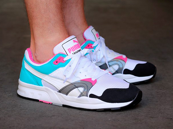 Puma Trinomic Xt1 Plus White Black Scuba Blue Pink