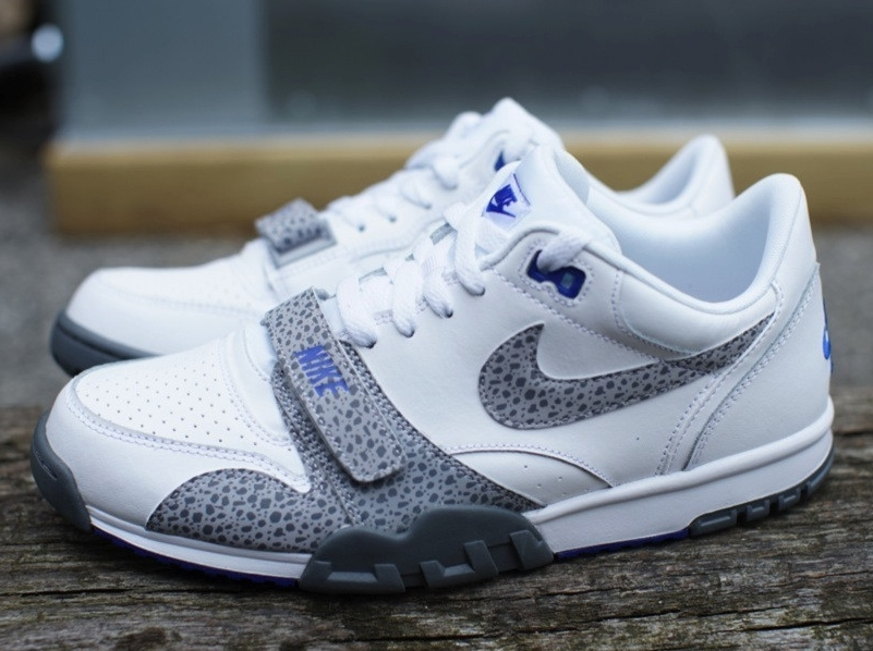 best authentic e20bf 39fa8 Nike Air Trainer 1 Low – White – Wolf Grey – Game Royal