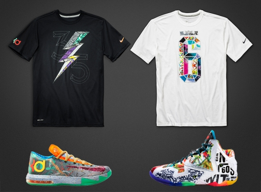 """Nike Basketball """"What The"""" T-Shirts"""