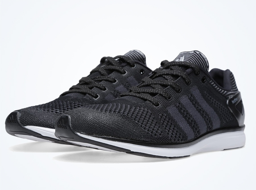 cheap for discount 58c08 43382 adidas adiZero Feather Primeknit – Black – White