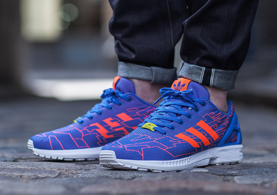 adidas originals ZX Flux Racer in Purple Northern Threads