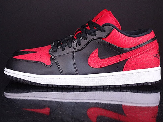 lowest price 0b3c0 5c514 Air Jordan 1 Low Color  Black Gym Red-White Style Code  553558-013