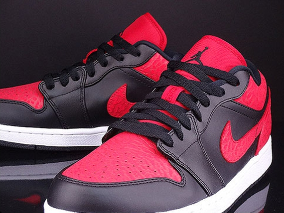 47e0db649ff Air Jordan 1 Low Color  Black Gym Red-White Style Code  553558-013