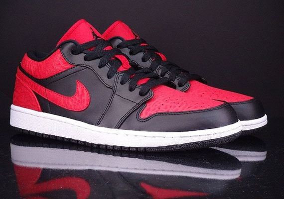 new products 9b1dc 4ea2f Air Jordan 1 Low – Black – Red Elephant Print