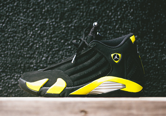 "The Air Jordan 14 ""Thunder"" will release tomorrow, July 4th. Their arrival on a holiday might mean an easier purchase for some of you, as you won't have to ..."