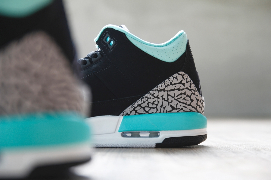 air jordan 3 gs black mint
