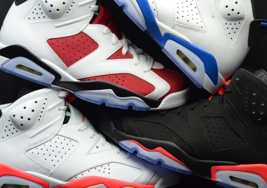 Jordan Brand's Four OG Air Jordan 6 Releases For 2014