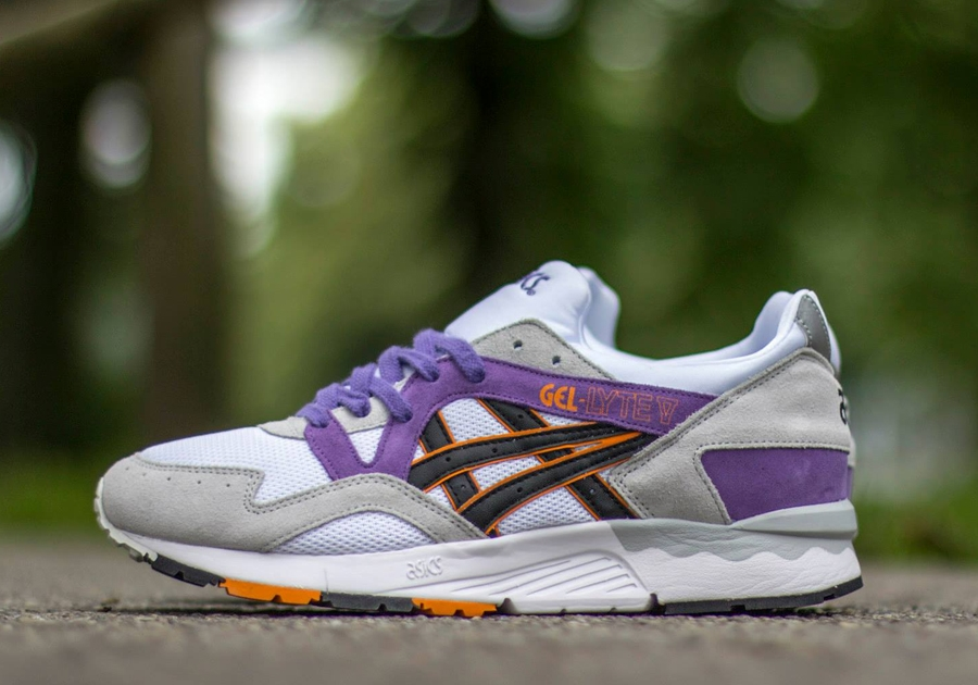 Men's - Asics GEL-Lyte V Grey / Black-Purple Shoes