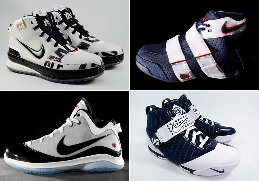 all the lebron shoes