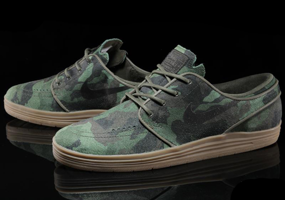 """The Nike SB Lunar Janoski """"Camo"""" is up for grabs now. The Lunar iteration  of the instant classic Janoski silhouette is yet another bit of evidence  proving ... 7e16992ff"""
