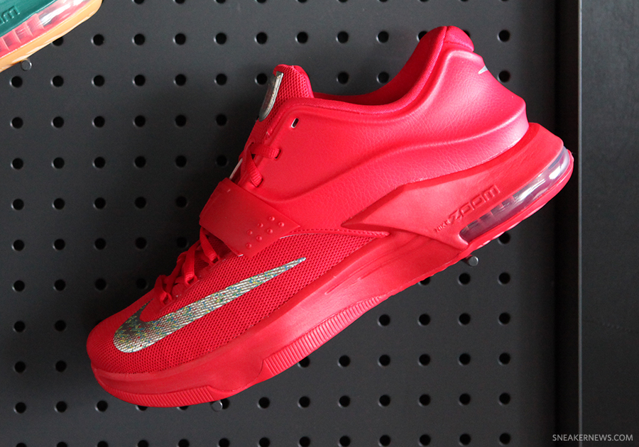 size 40 8a22c a2e5d ... ireland nike kd 7 global game color action red metallic silver style  code 653996 660. ...