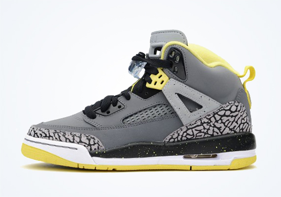 Jordan Spiz'ike GS - Cool Grey - Vibrant Yellow ...