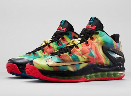 """Nike LeBron 11 Low SE """"Multi-color"""" – Foot Locker Release Date"""