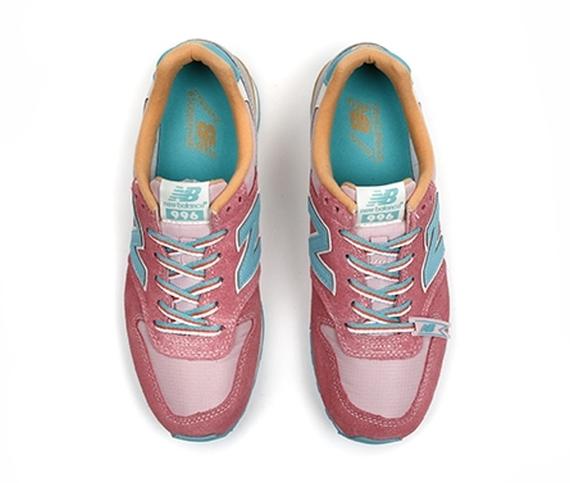 New Balance 996 Womens - Pink - Teal - Gold - SneakerNews.com