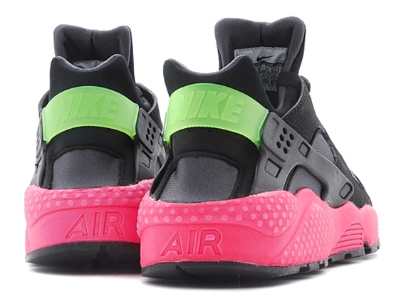 """Nike Air Huarache """"Hyper Punch"""" Color  Anthracite Black-Hyper  Punch-Electric Green Style Code  318429-006 c347da8003"""